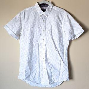 Zara Collared Short Sleeve Button Down Shirt